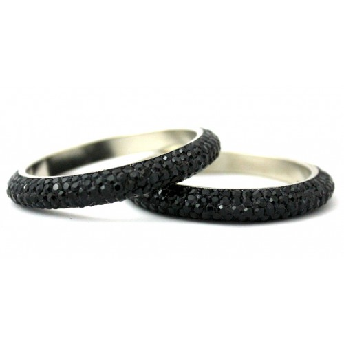 designers and jewelry platinum chris bangles b s diamond black rubber bangle correia bracelets